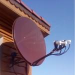 Шоколадные спутниковые антенны - оригинальное решение для частного дома