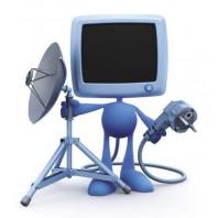 Комплект ВОСТОК. Антенное оборудование с установкой для подключения 1-го телевизора. Без абонплаты