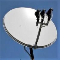 Комплект УКРАИНА + на 1 тв. Спутниковая антенна на три спутника с установкой для подключения 1-го телевизора. Каналы без абонплаты