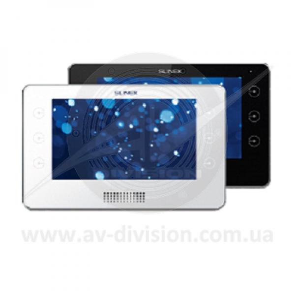"""SLINEX Kiara (цвет - черный). Панель IP видеодомофона с экраном 7"""", автоответчиком, диктофоном, видеорегистратором"""