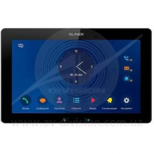 """SLINEX Mira (цвет - черный). Панель IP видеодомофона с экраном 10"""", автоответчиком, диктофоном, видеорегистратором"""