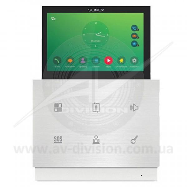"""SLINEX Zian (цвет - белый/серебро). Панель IP видеодомофона с выдвижным экраном 7"""", автоответчиком, диктофоном, видеорегистратором"""