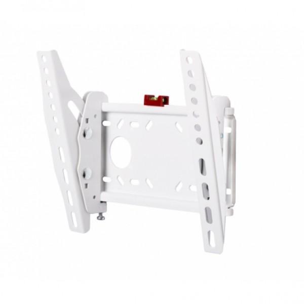 КВАДО К-131 белый. Настенный фиксированный кронштейн с наклоном для телевизора с диагональю 28''-40''