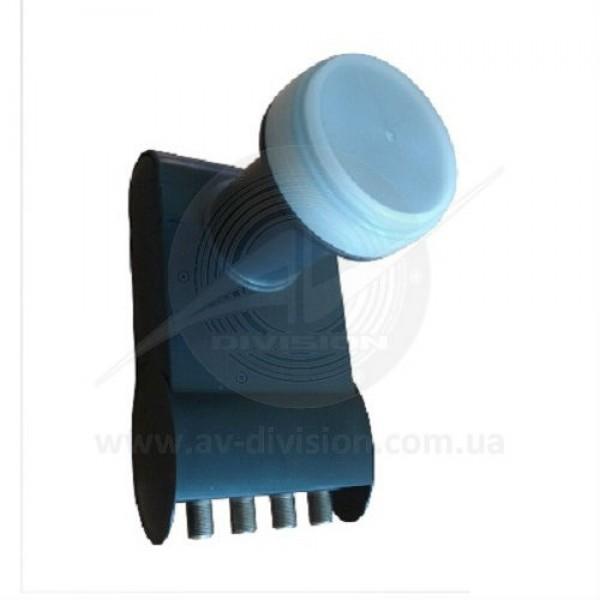Inverto BLACK Pro Quad High-Band Circular (IDLB-QUDR41-H1075-OPP). Конвертер круговой поляризации (циркуляр) с 4-мя независимыми выходами для приема спутникового телевидения