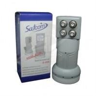 SATCOM S-406 QUAD Universal. Конвертер линейной поляризации (универсальный) с четырьмя независимыми выходами для приема спутникового телевидения в Ku диапазоне