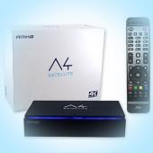 AMIKO A4 SATELLITE. 4K UHD спутниковый ресивер ОС Android, Wi-Fi, IPTV, YouTube, Play Market