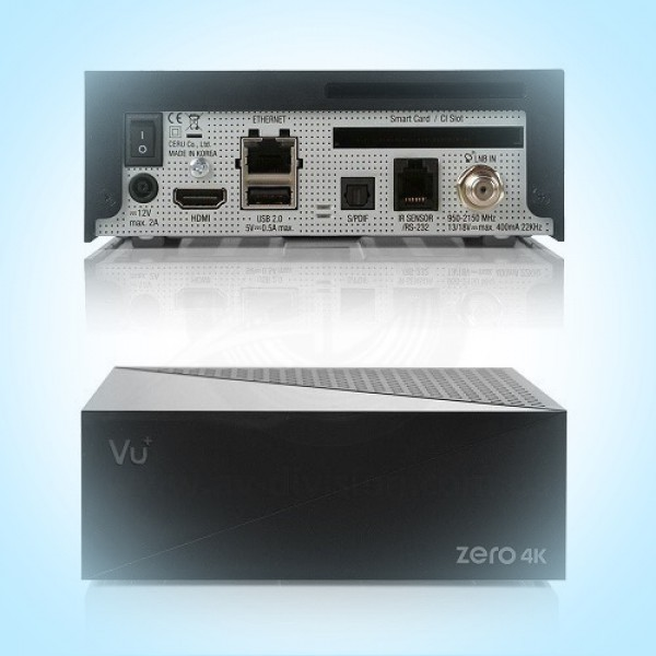 VU+ ZERO 4K DVB-S2X. Спутниковый ресивер формата Ultra HD с картоприемником, функцией записи, IPTV и WEB сервисами