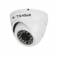 TECSAR AHDD-1Mp-20Fl-out-eco. AHDD купольная камера видеонаблюдения для улицы и помещений, разрешение 1 Мп (720Р)